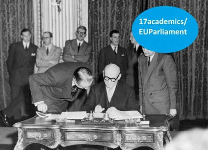 Signing of the Treaty by Robert Schuman